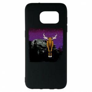 Etui na Samsung S7 EDGE Car crashed into a moose