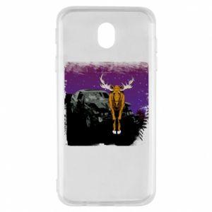 Etui na Samsung J7 2017 Car crashed into a moose
