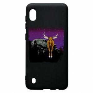 Etui na Samsung A10 Car crashed into a moose