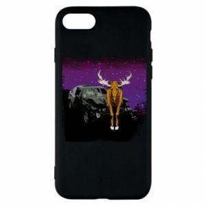 Etui na iPhone SE 2020 Car crashed into a moose