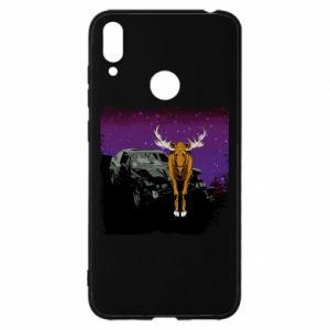 Etui na Huawei Y7 2019 Car crashed into a moose
