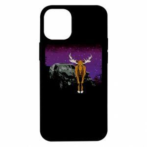Etui na iPhone 12 Mini Car crashed into a moose