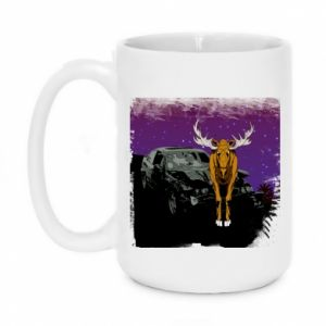 Mug 450ml Car crashed into a moose - PrintSalon