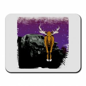 Mouse pad Car crashed into a moose - PrintSalon