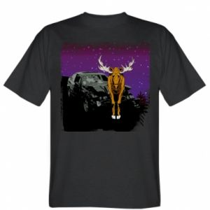 T-shirt Car crashed into a moose - PrintSalon