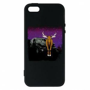 Etui na iPhone 5/5S/SE Car crashed into a moose