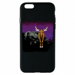 Phone case for iPhone 6/6S Car crashed into a moose - PrintSalon