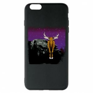 Phone case for iPhone 6 Plus/6S Plus Car crashed into a moose