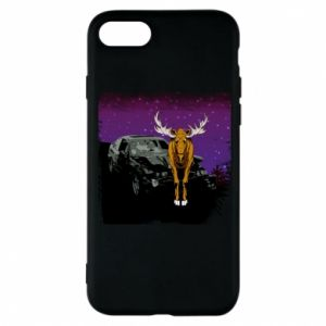 Etui na iPhone 8 Car crashed into a moose