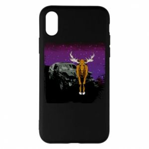 Etui na iPhone X/Xs Car crashed into a moose