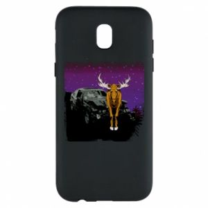 Phone case for Samsung J5 2017 Car crashed into a moose