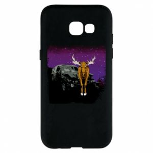 Etui na Samsung A5 2017 Car crashed into a moose