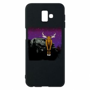 Phone case for Samsung J6 Plus 2018 Car crashed into a moose