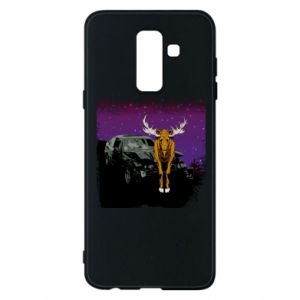 Phone case for Samsung A6+ 2018 Car crashed into a moose