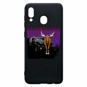 Phone case for Samsung A30 Car crashed into a moose
