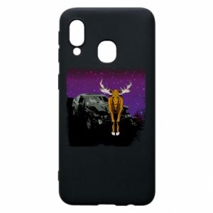 Phone case for Samsung A40 Car crashed into a moose