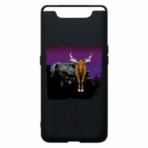 Phone case for Samsung A80 Car crashed into a moose