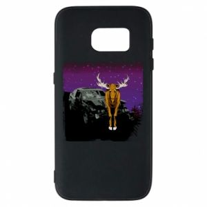 Etui na Samsung S7 Car crashed into a moose