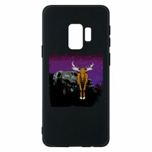Phone case for Samsung S9 Car crashed into a moose - PrintSalon