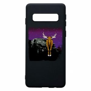 Phone case for Samsung S10 Car crashed into a moose - PrintSalon
