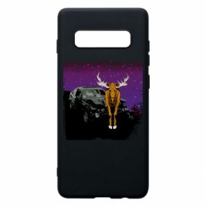 Etui na Samsung S10+ Car crashed into a moose