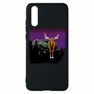 Phone case for Huawei P20 Car crashed into a moose - PrintSalon