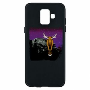 Etui na Samsung A6 2018 Car crashed into a moose