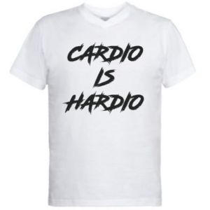 Męska koszulka V-neck Cardio is hardio