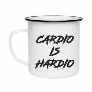 Enameled mug Cardio is hardio