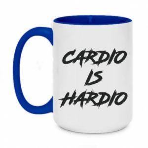 Two-toned mug 450ml Cardio is hardio
