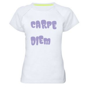 Koszulka sportowa damska Carpe diem
