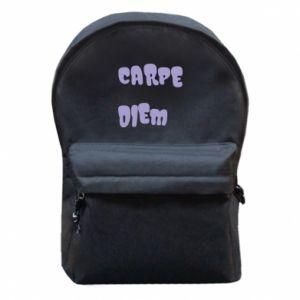 Plecak z przednią kieszenią Carpe diem