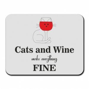 Podkładka pod mysz Cat and wine make everything fine