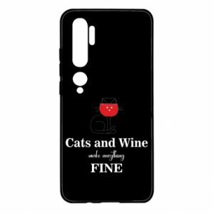 Etui na Xiaomi Mi Note 10 Cat and wine make everything fine