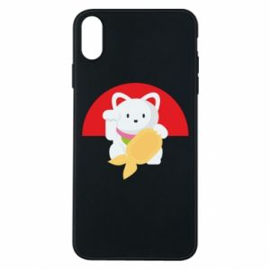 Phone case for iPhone Xs Max Cat for luck - PrintSalon