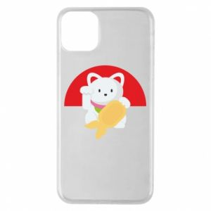 Phone case for iPhone 11 Pro Max Cat for luck - PrintSalon
