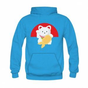 Bluza z kapturem dziecięca Cat for luck