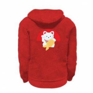 Bluza na zamek dziecięca Cat for luck