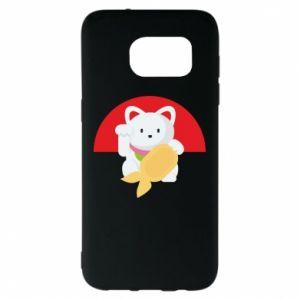 Etui na Samsung S7 EDGE Cat for luck