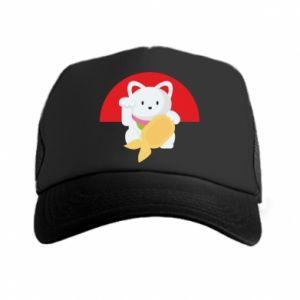Trucker hat Cat for luck - PrintSalon