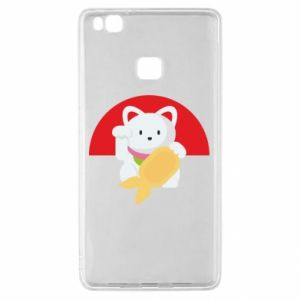 Etui na Huawei P9 Lite Cat for luck