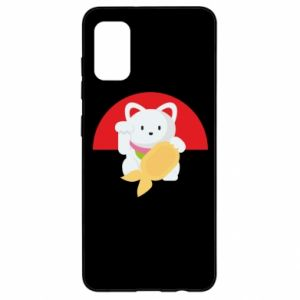 Etui na Samsung A41 Cat for luck