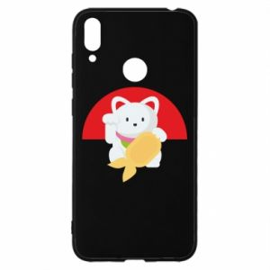 Etui na Huawei Y7 2019 Cat for luck