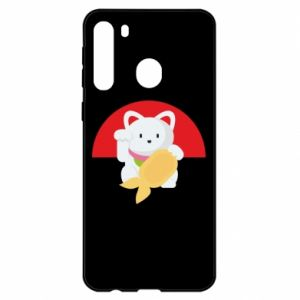 Etui na Samsung A21 Cat for luck
