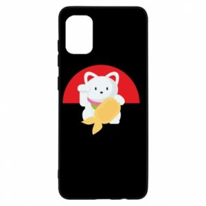 Etui na Samsung A31 Cat for luck