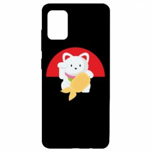 Etui na Samsung A51 Cat for luck