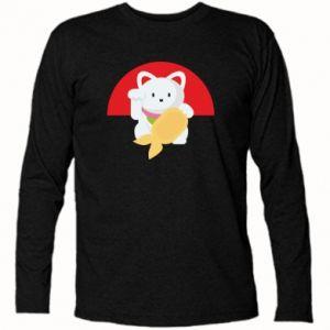 Long Sleeve T-shirt Cat for luck - PrintSalon