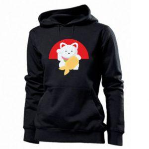 Women's hoodies Cat for luck