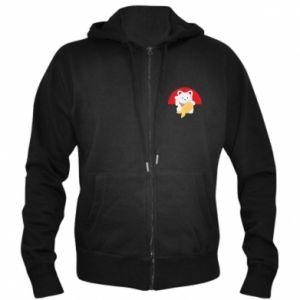 Men's zip up hoodie Cat for luck - PrintSalon