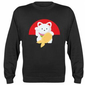 Sweatshirt Cat for luck - PrintSalon